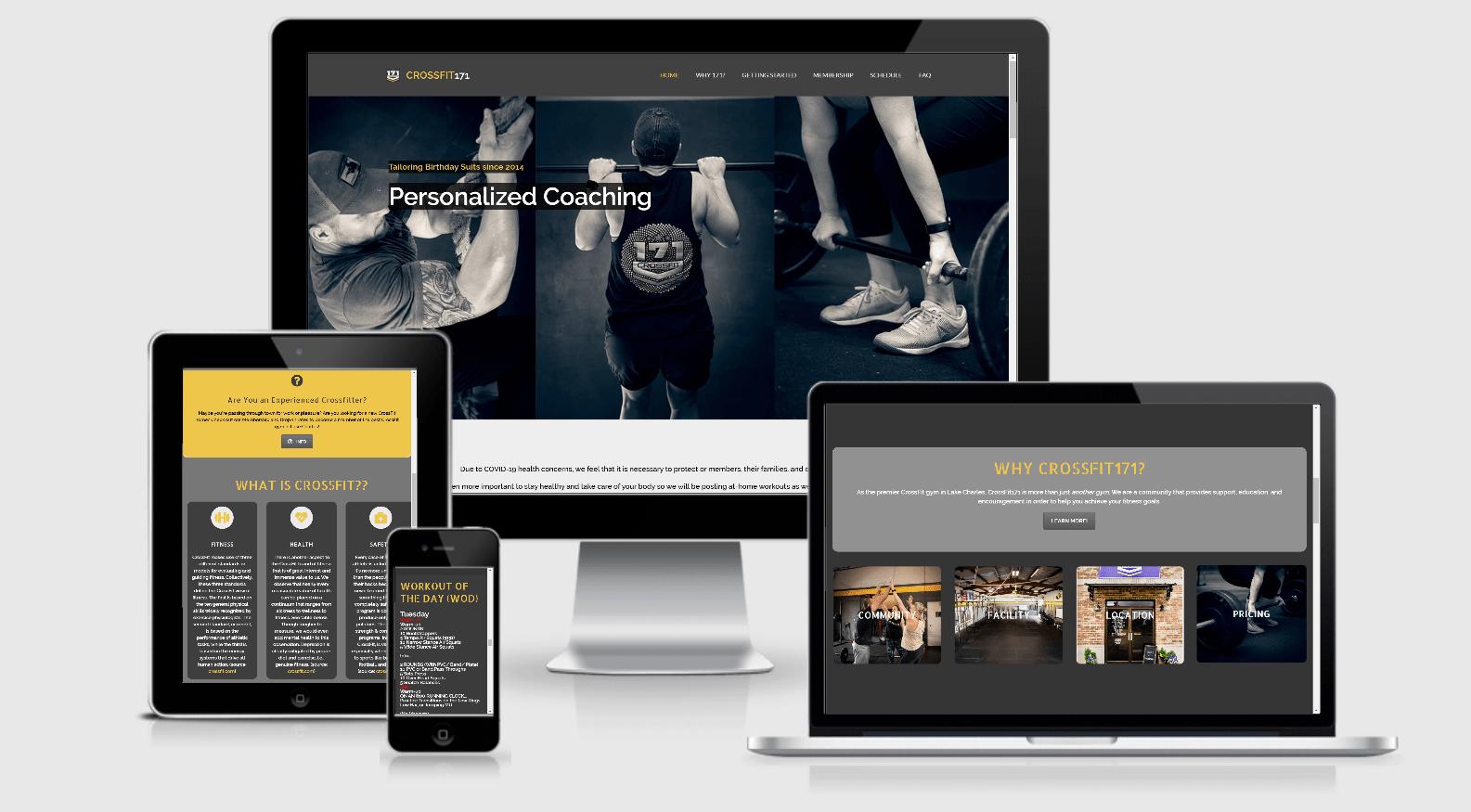 New CrossFit171 Web Design